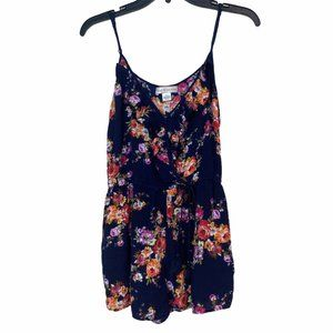 BAND OF GYPSIES navy floral romper EUC
